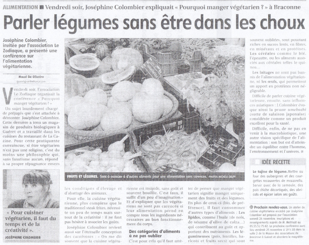 Association Le Zodiaque - Presse 14 octobre 2011