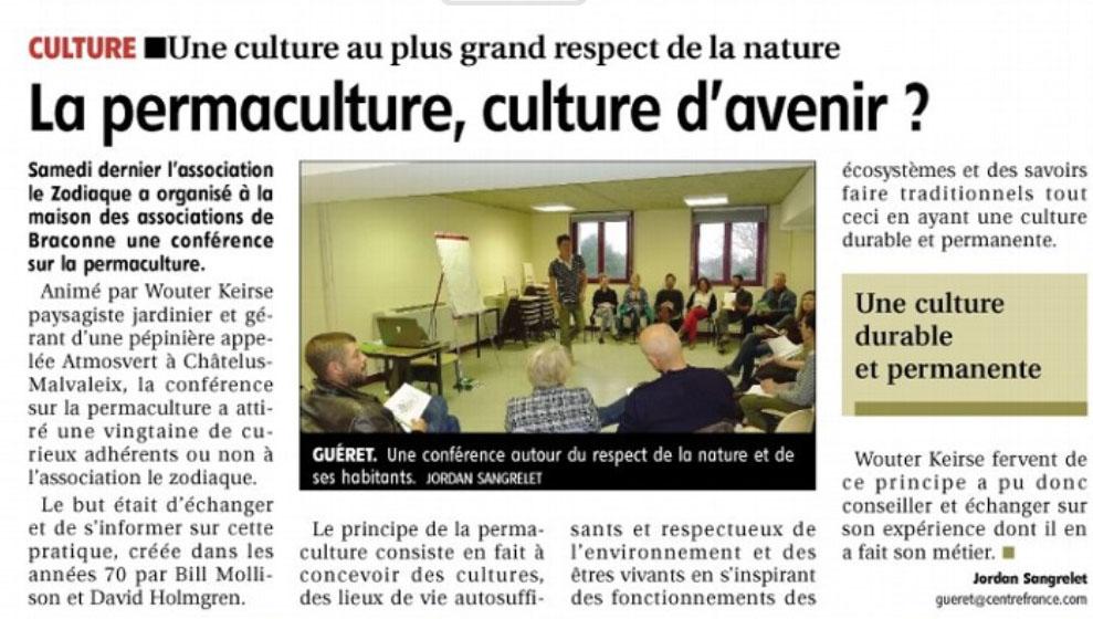 Association Le Zodiaque - Presse 18 avril 2015