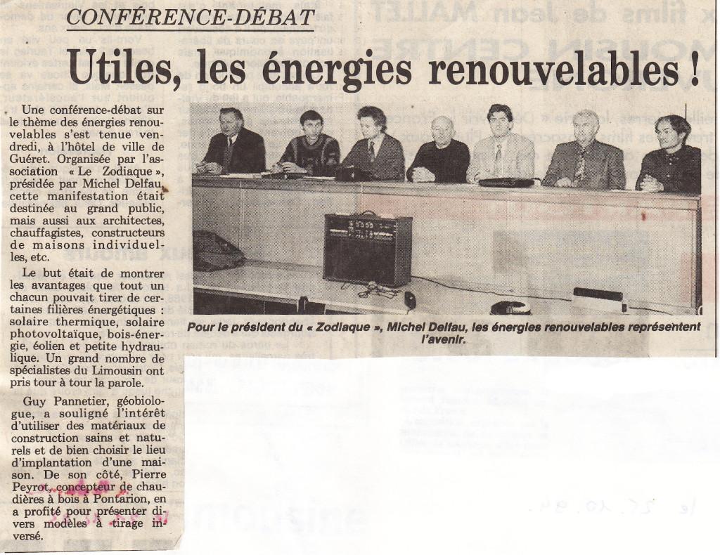 Association Le Zodiaque - Presse 21 décembre 1993